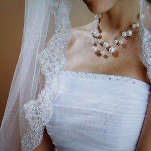 Mantilla Bridal / Wedding Veil by Mariell White